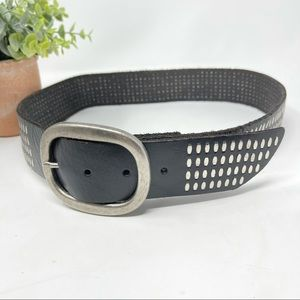 Bill Adler Designs Black Leather Studded Belt